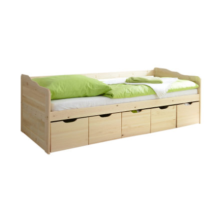 TICAA Couch Bed MARIA with drawers, nature