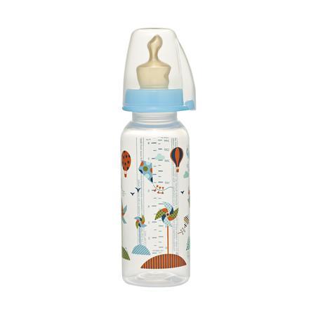NIP PP Babyflasche 250ml Family Boy mit Anti-Koliksauger Latex Milch Gr. 2
