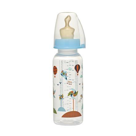 NIP PP Butelka do karmienia 250ml Family Boy z lateksowym smoczkiem do mleka rozm. 2