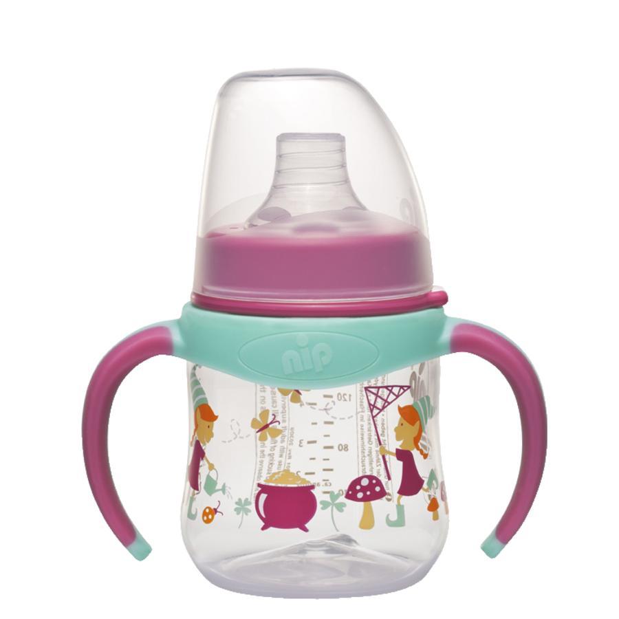 NIP PP Trinklernflasche Girl 150 ml mit Weithalstrinksauger Kobold Girl