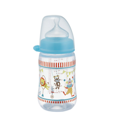 nip Biberon à Girl col large PP 260 ml tétine silicone lait taille 0+ Circus boy