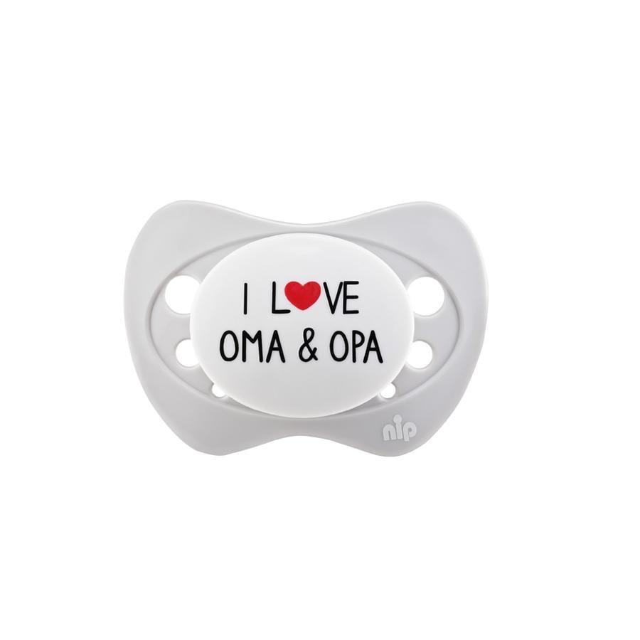 nip Schnuller Gr. 1 Silikon I love Oma & Opa
