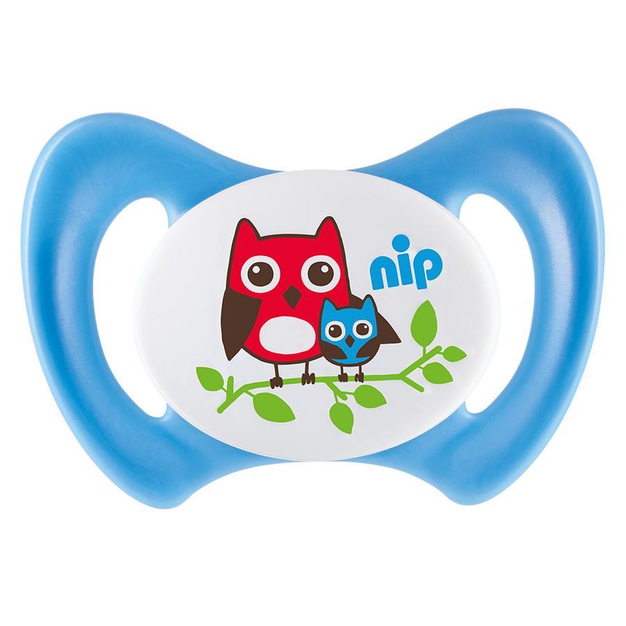 nip Napp Miss Denti storlek 2 Silikon, blå uggla