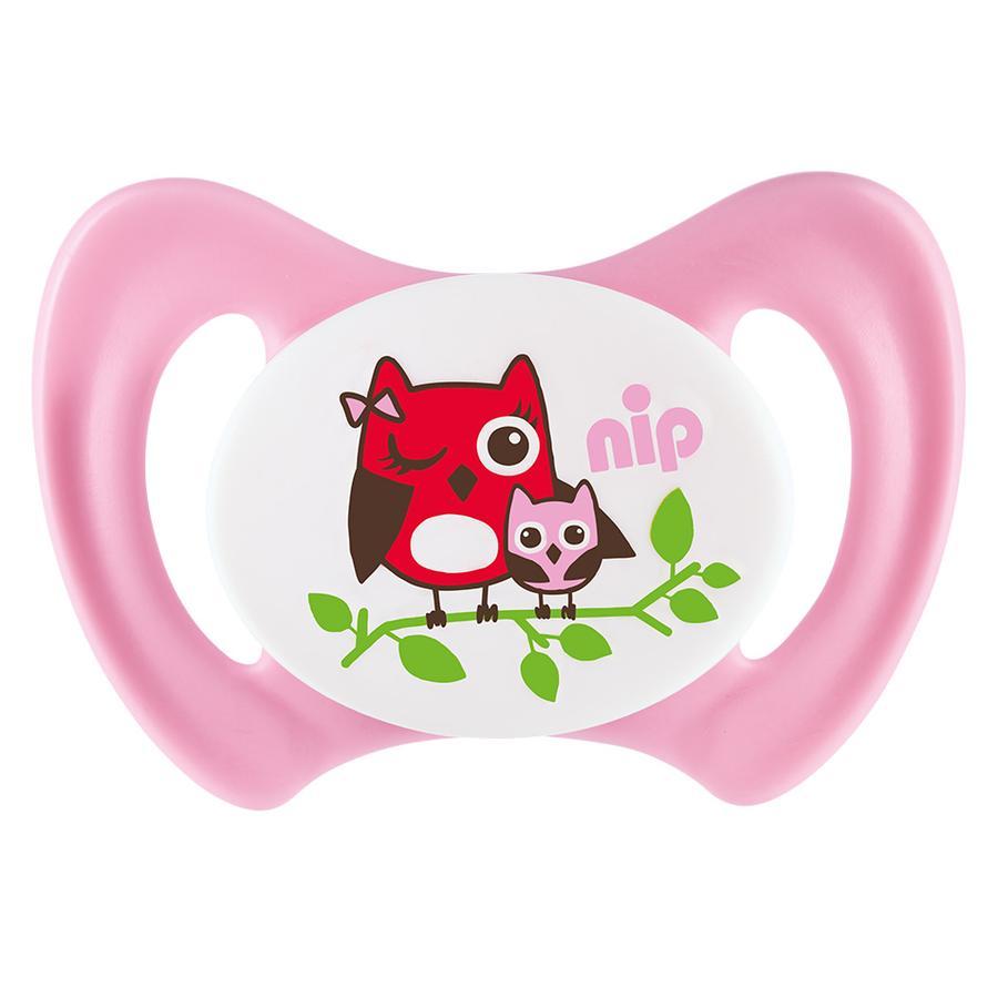 nip Schnuller Miss Denti Gr. 3 Silikon Eule rosa