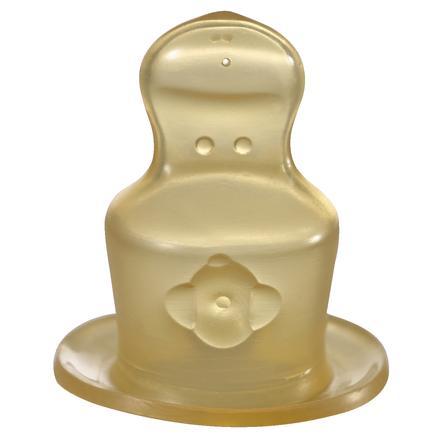 Nip, Suttehoved, Latex med ventil, Gr. 2 til mælk