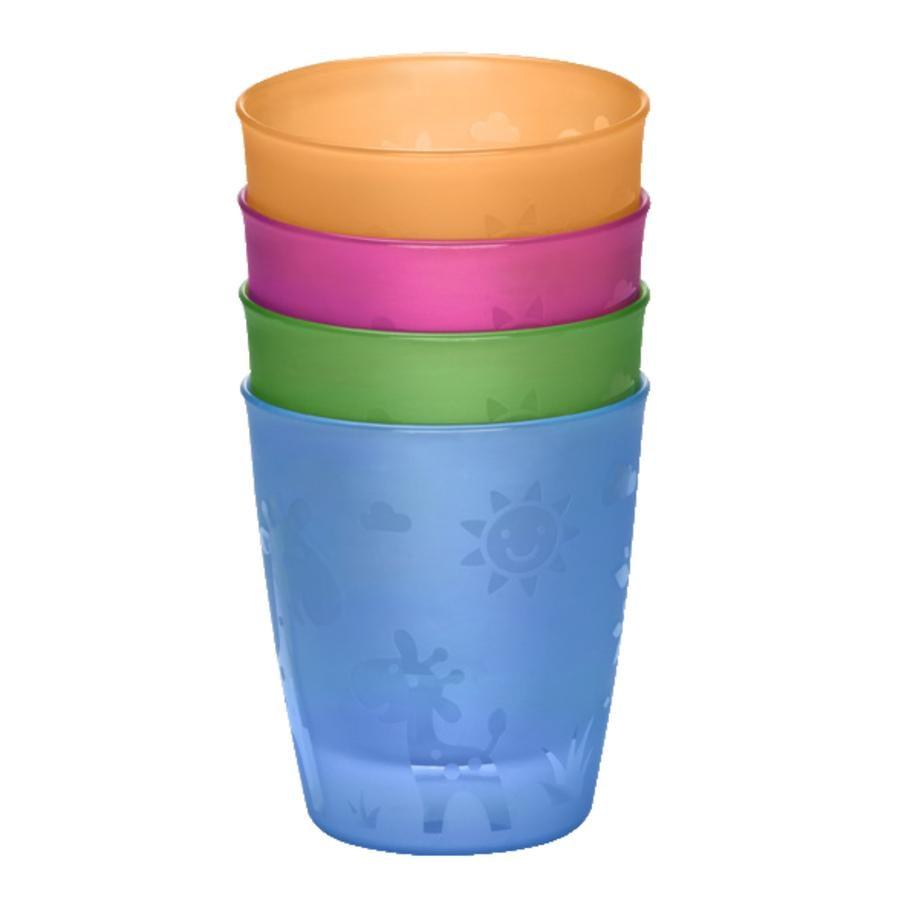 nip Bicchiere colorato 4 pezzi