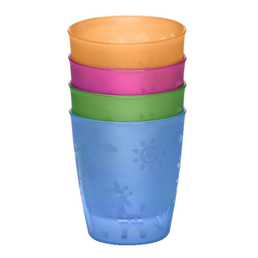 nip Šálek na pití barevné 4 kusy