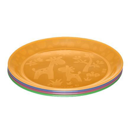 nip Assiette colorée 4 pièces