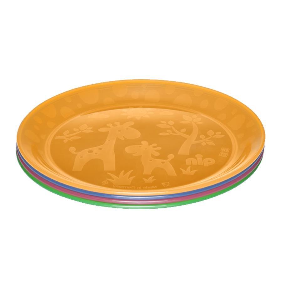 BPA frei spülmaschinenfest, stabil nip Kinderteller 4er Set bunt