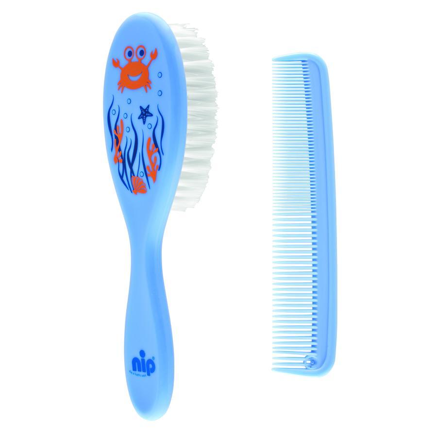 nip Haarpflegeset Bürste & Kamm blau