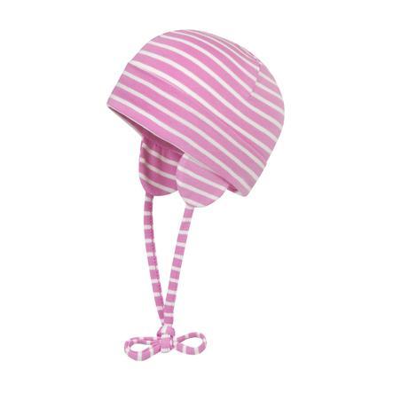 Döll Girls Bindemütze, pink gestreift
