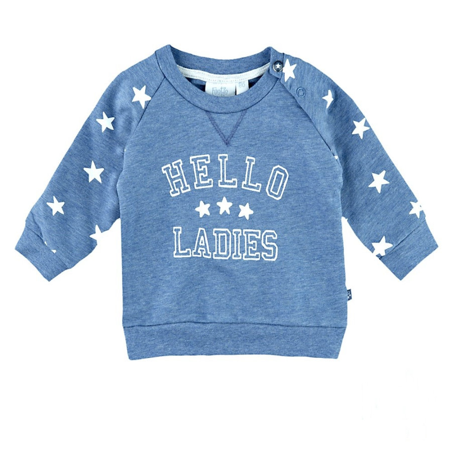 Feetje Boys Sweatshirt hello ladies star blau