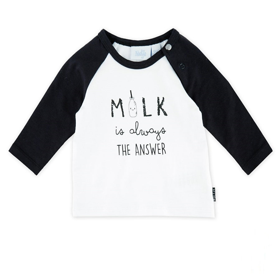 Feetje Langarmshirt the answer milk weiss