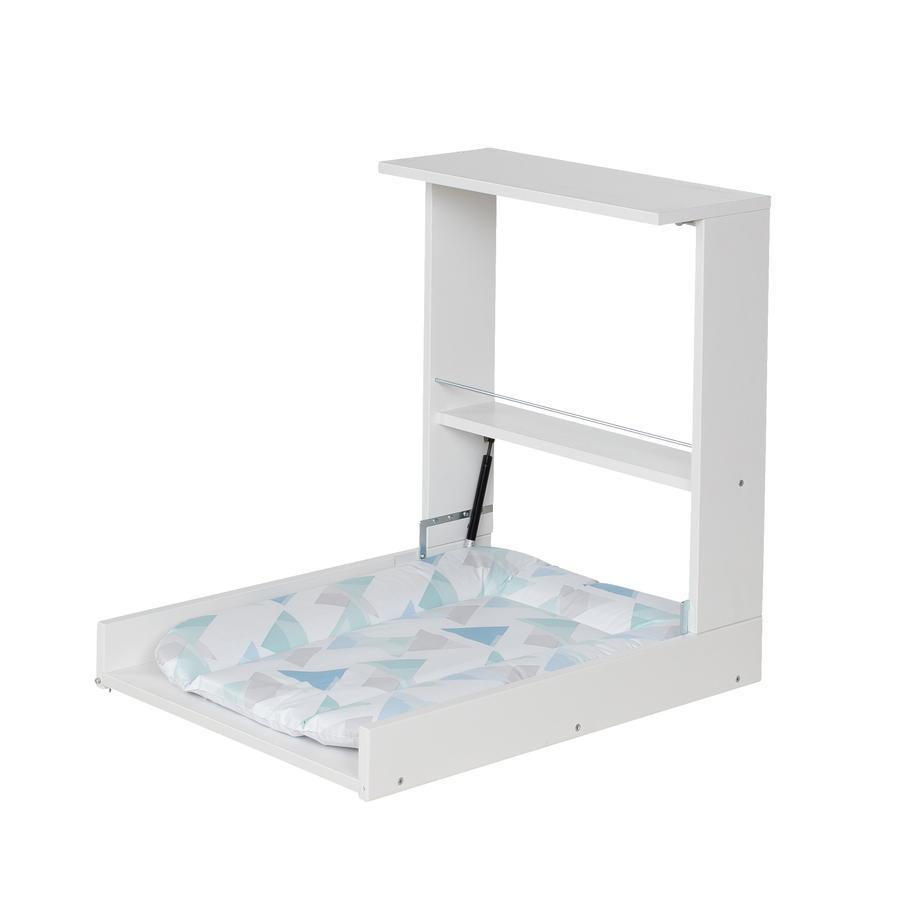Geuther závěsný přebalovací pult Wicki bílá fólie 011 Prisma