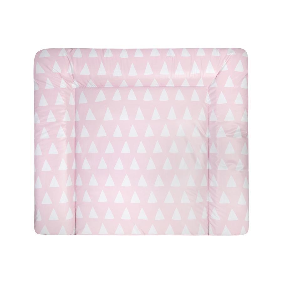JULIUS ZÖLLNER Wickelauflage Softy Triangel pink 75 x 85 cm
