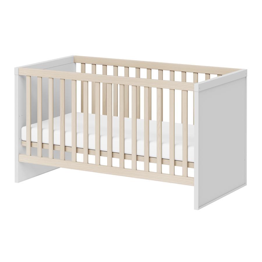 WELLEMÖBEL Kinderbett Enie weiß Esche