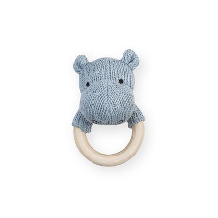 Jollein Hippo Pierścień do ząbkowania, miękko-niebieski
