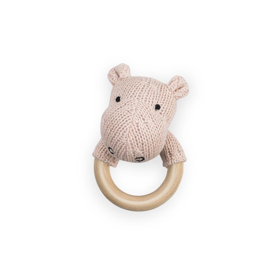 Jollein Anneau de dentition Hippopotame, rose