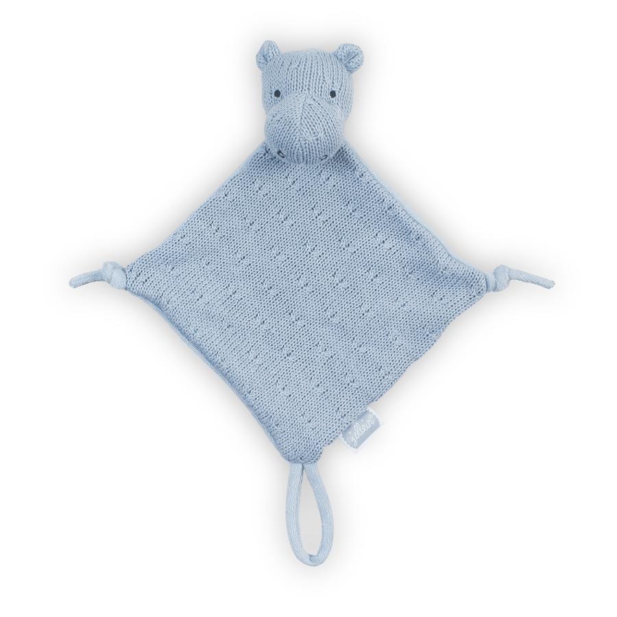 Jollein Hippo Ścierka do przytulania, miękki niebieski
