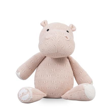 Jollein Hippo plyšová hračka Měkká, krémová a broskev