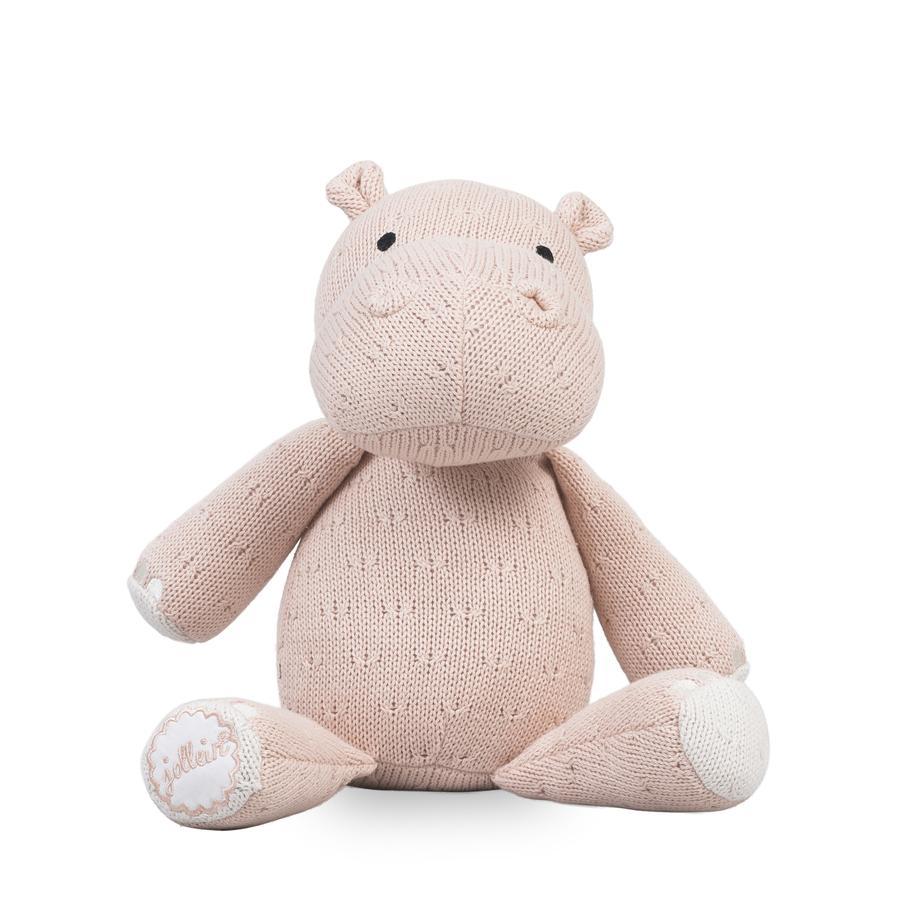 Jollein Hippo kosete leketøy Myk, krem-fersken