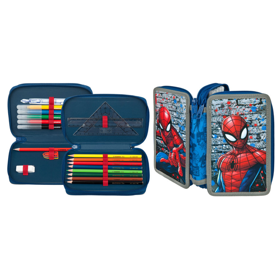 Scooli Trousse d'école garnie Marvel Spiderman