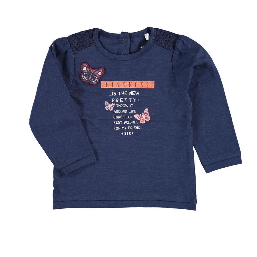 STACCATO Girl s shirt met lange mouwen denim blue melange
