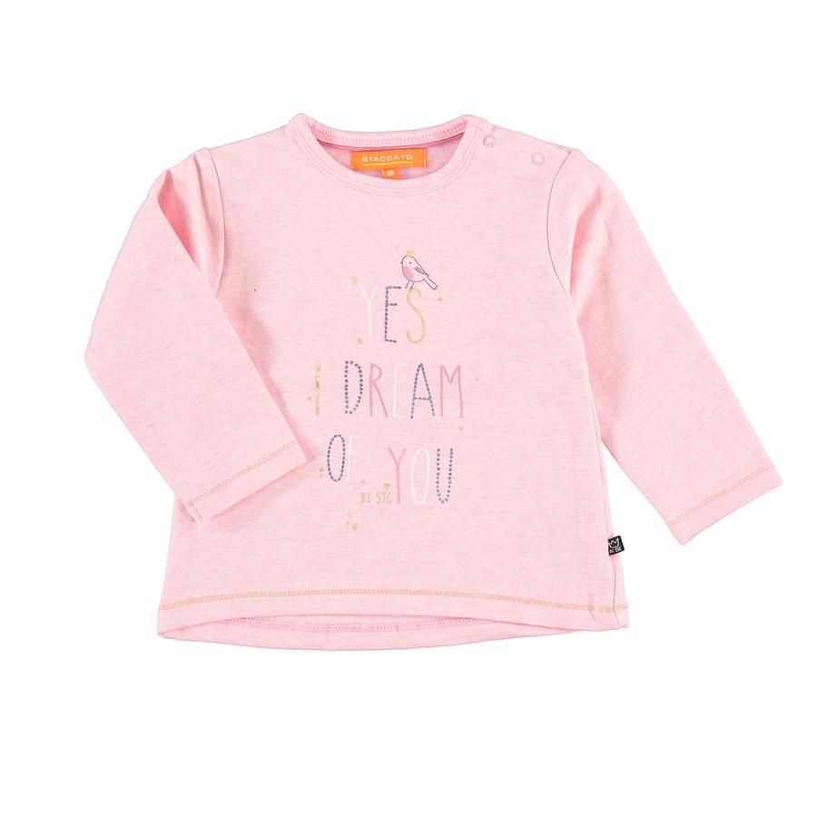 STACCATO Girls Maglietta a maniche lunghe rosa melange