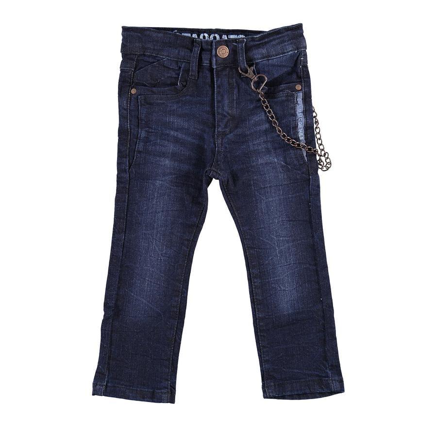 STACCATO Boys Jeans Skinny z łańcuszkiem z ciemnoniebieskim dżinsem.