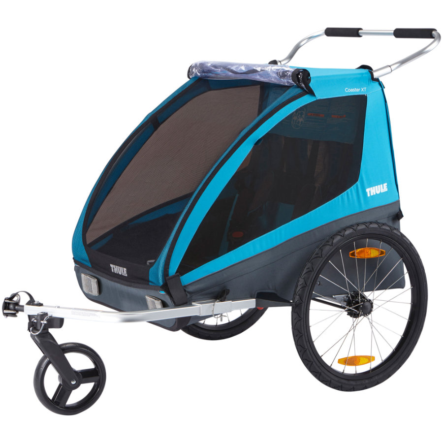 THULE Remorque de vélo enfant Coaster XT bleu