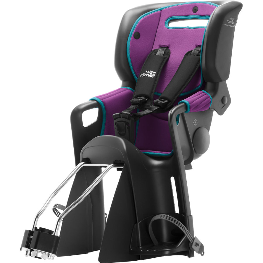 Britax Römer Cyklosedačka Jockey² Comfort Black - Turquoise / Purple