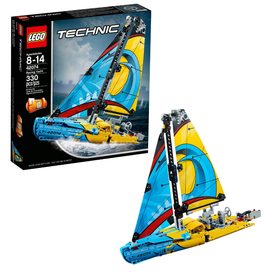 lego technic le yacht de comp tition 42074. Black Bedroom Furniture Sets. Home Design Ideas