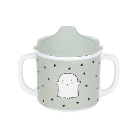 LÄSSIG Tasse Little Spookies Olive Melamin mit Silikonrand