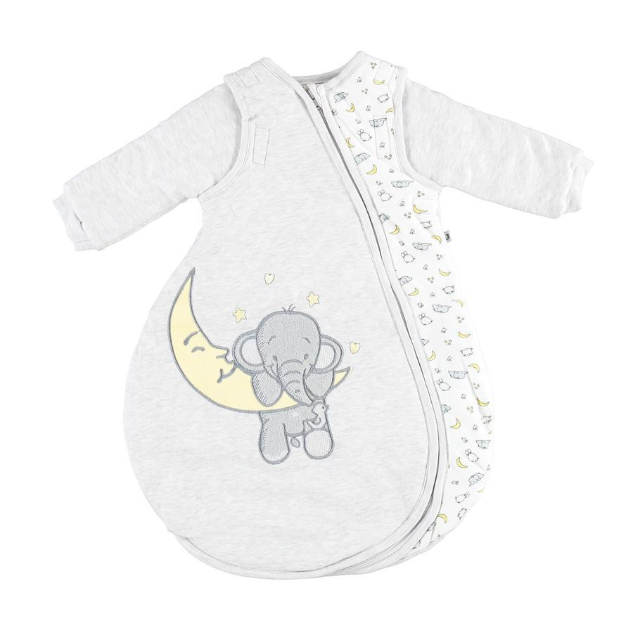 JACKY Gigoteuse bébé éléphant ouatinée mélange gris clair