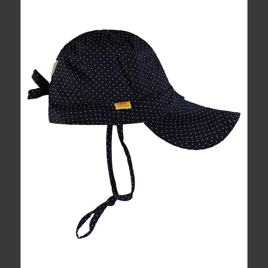 Steiff Girl chapeau à pois bleu marine