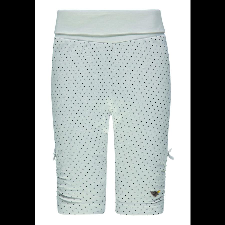 Steiff Girls Leggings, hvit med prikker
