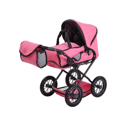 knorr® toys Puppenwagen Ruby - Jeans pink