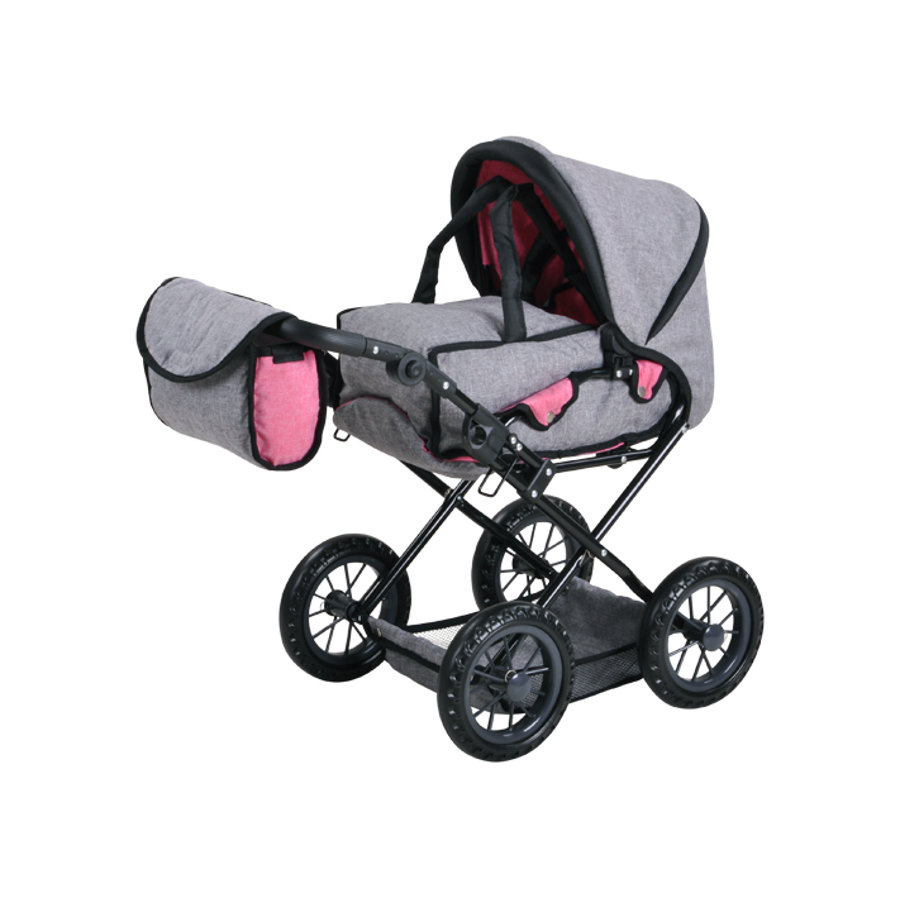knorr® toys Poppenwagen Ruby - Jeans grey
