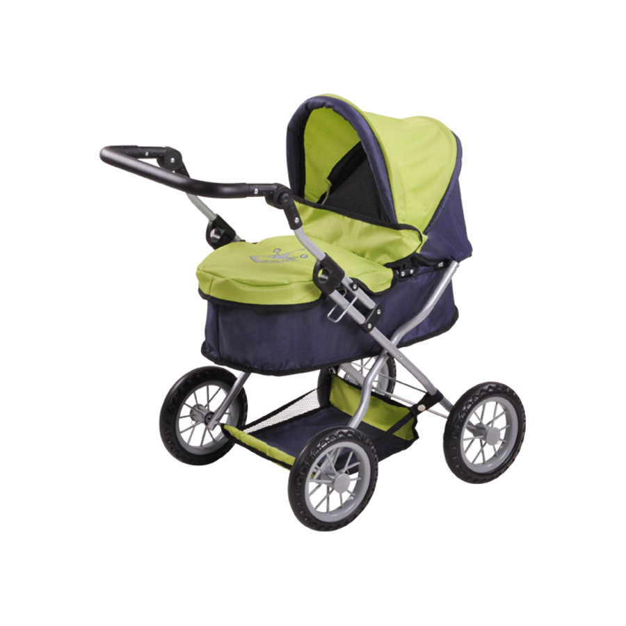 knorr® toys Puppenwagen First - green grey