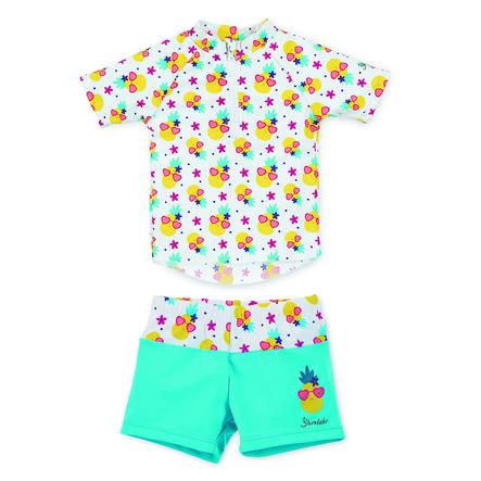 Sterntaler Girls UV-Schwimmanzug 2 tlg weiß