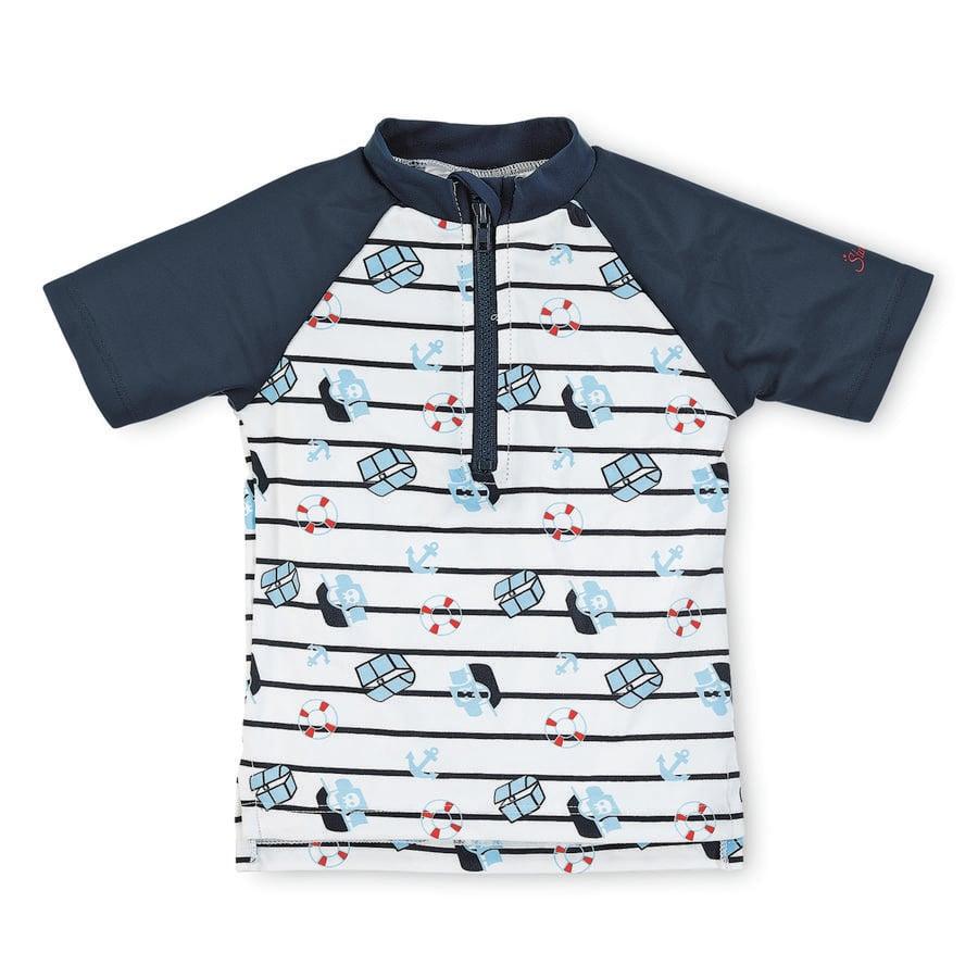 Sterntaler Boys koupací triko s krátkým rukávem a UV ochranou, bílé