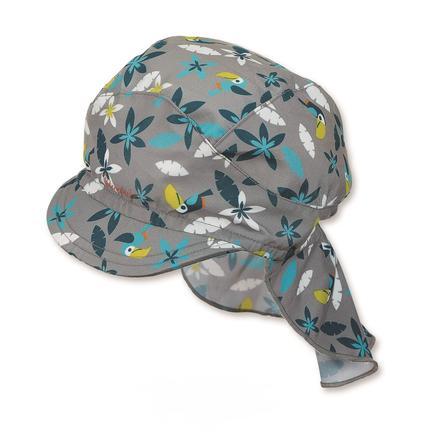 Sterntaler Boys gorra con protección de cuello gris ahumado