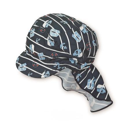Sterntaler Boys Čepice s kšiltem a ochranou týlu námořnicky modrá