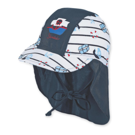 Sterntaler Boys Binde-Schirmmütze mit Nackenschutz marine