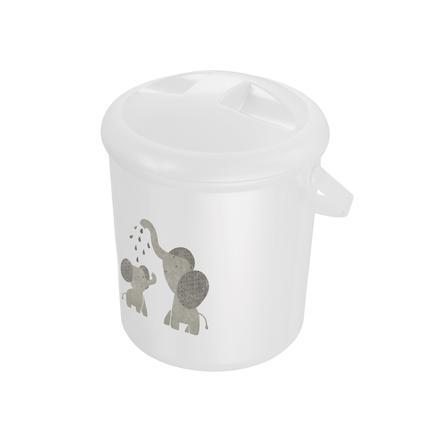 "Rotho Babydesign secchio per pannolini Bella Bambina, bianco ""Modern Elephants"""