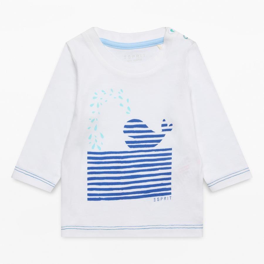 ESPRIT Boys Shirt met lange mouwen wit