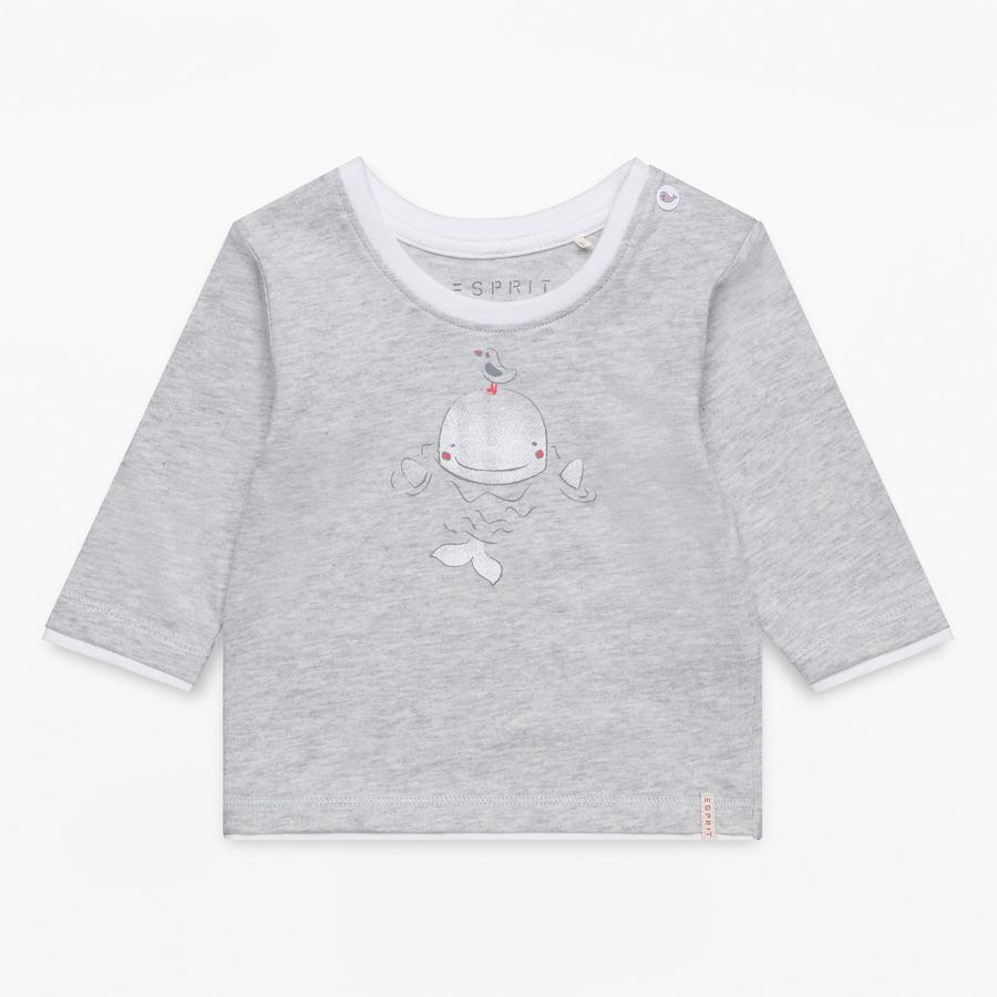 ESPRIT Shirt met lange mouwen licht heide grijs