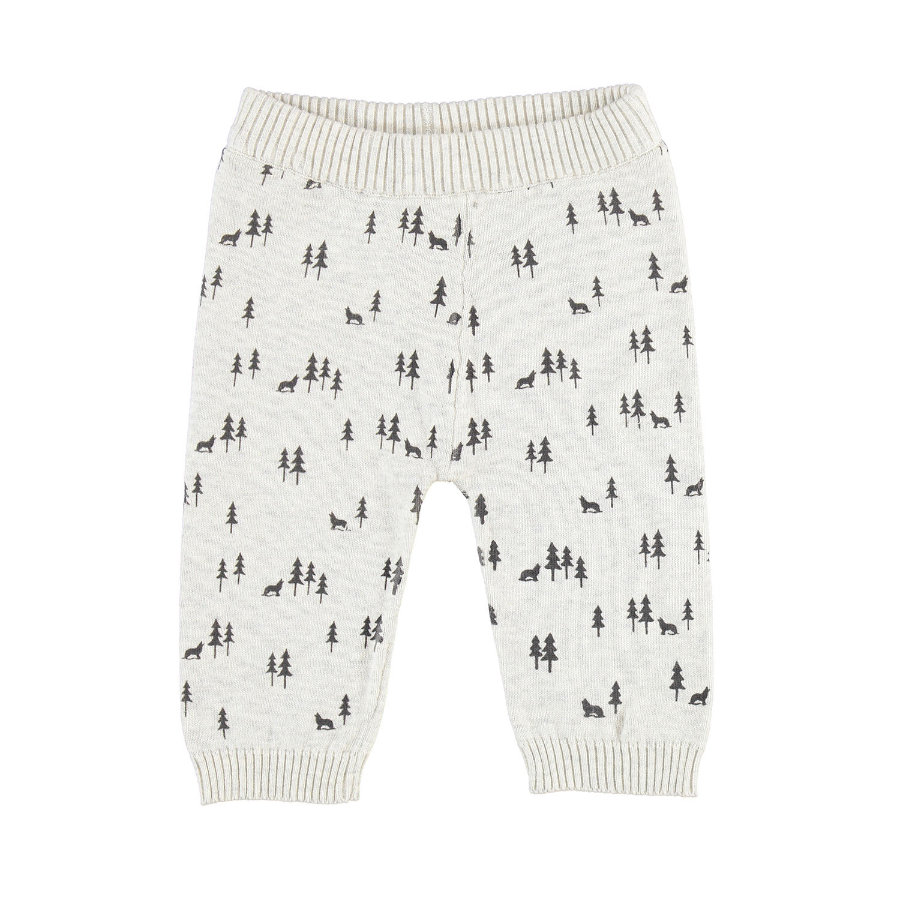 Pantalon tricot EBI & EBI beige forêt