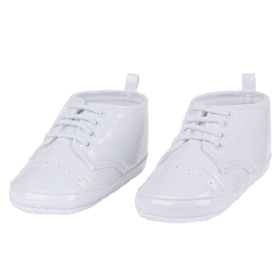 maximo Girl zapato patentado de la marca s blanco