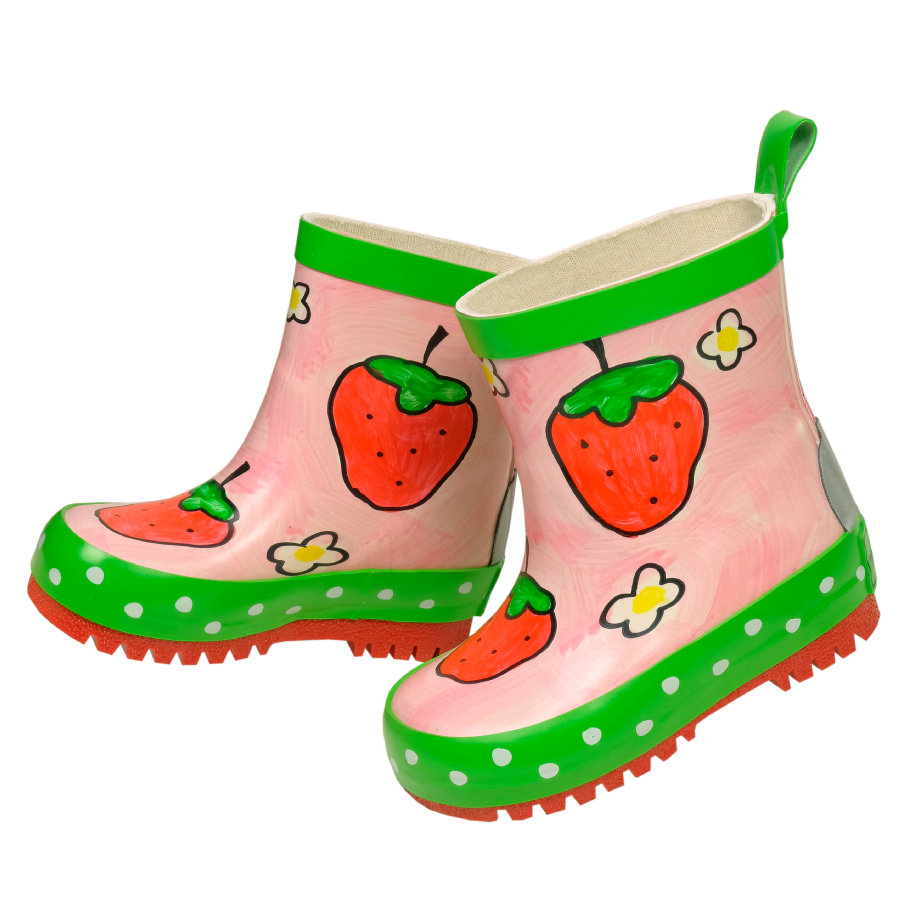 maximo Girl s Bottes en caoutchouc Small Strawberry rose rose fraise